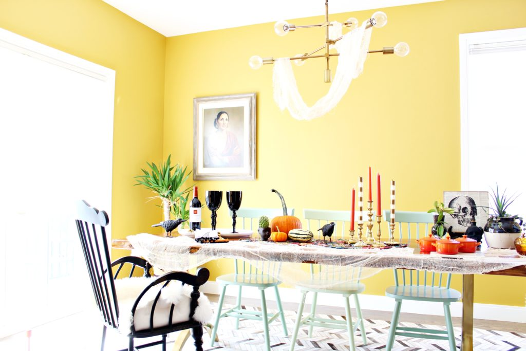 fascinating halloween dining room ideas | Halloween Entertaining: My Decked Out Dining Room | Space ...